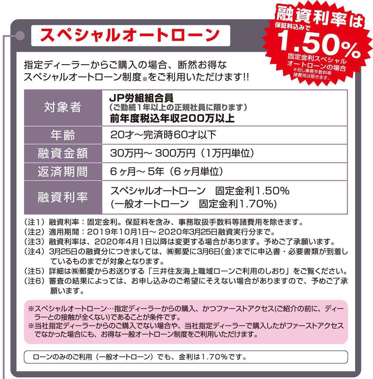 スペシャルオートローン/ディーラーのご紹介